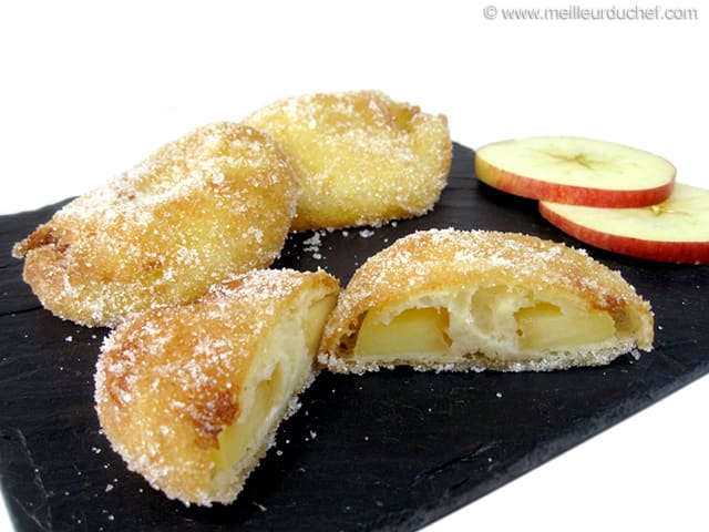 beignet aux pommes fiche recette avec photos. Black Bedroom Furniture Sets. Home Design Ideas