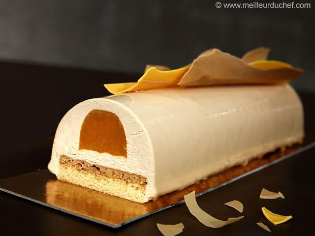 B che de no l z phyr caramel gel e d 39 abricots fiche recette illustr e - Decoration gateau professionnel ...