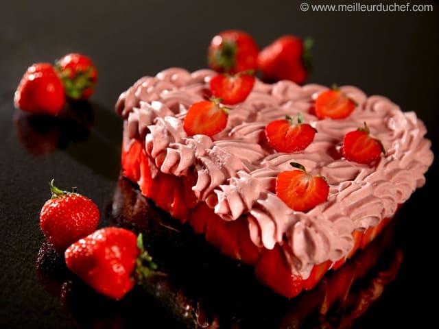 c ur la mousse de fraise recette de cuisine avec photos. Black Bedroom Furniture Sets. Home Design Ideas