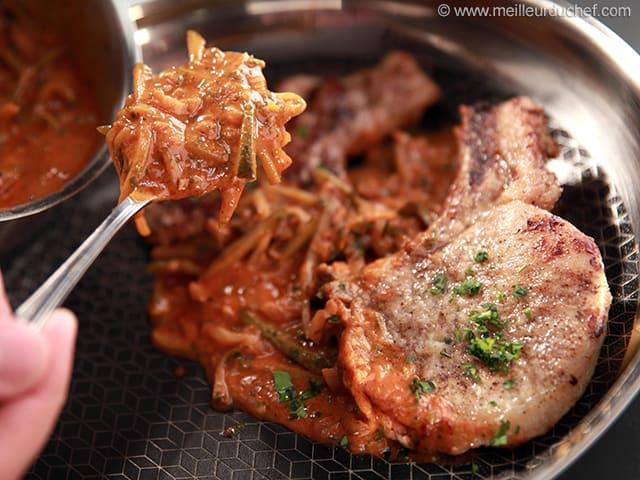 C te de porc charcuti re fiche recette avec photos - Recette paupiette de porc facile ...