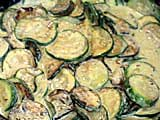 Courgettes &agrave; la cr&egrave;me