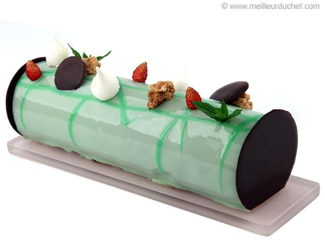 entremets de no l chocolat menthe recette de cuisine. Black Bedroom Furniture Sets. Home Design Ideas