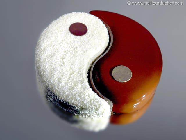 Entremets yin yang recette de cuisine illustr e for Yin yang raumgestaltung
