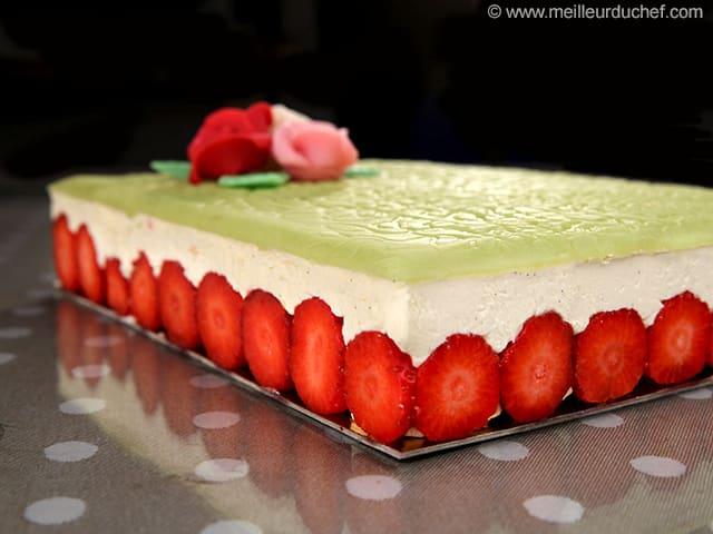 fraisier classique facile 224 r 233 aliser recette de cuisine avec photos meilleurduchef
