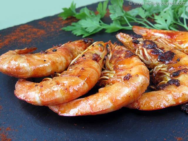 Gambas grill es recette de cuisine avec photos recette l g re - Accompagnement gambas grillees ...