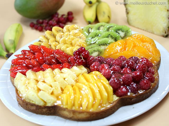 tarte aux fruits frais fiche recette avec photos. Black Bedroom Furniture Sets. Home Design Ideas