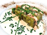 Terrine de saumon aux l&eacute;gumes verts