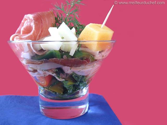 Verrine de saumon au jambon de bayonne fiche recette - Cours de cuisine bayonne ...