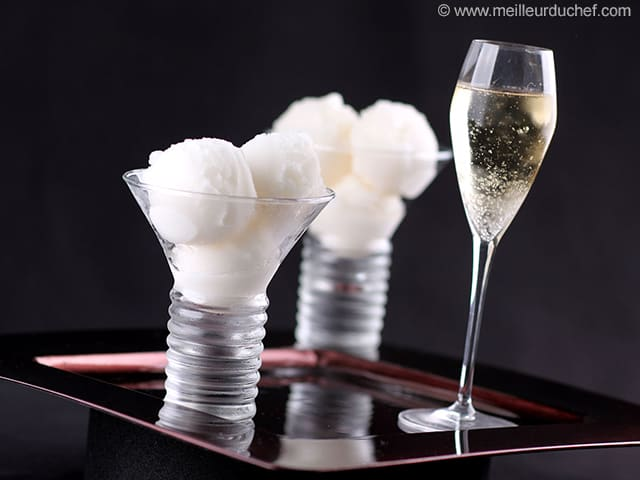 Champagne Sorbet - Our recipe with photos - MeilleurduChef.com