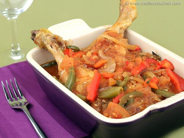 Chicken Basquaise - Recipe with images - MeilleurduChef.com