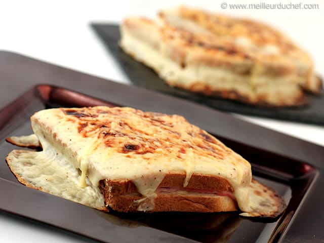 croque monsieur with b chamel sauce recipe with images. Black Bedroom Furniture Sets. Home Design Ideas