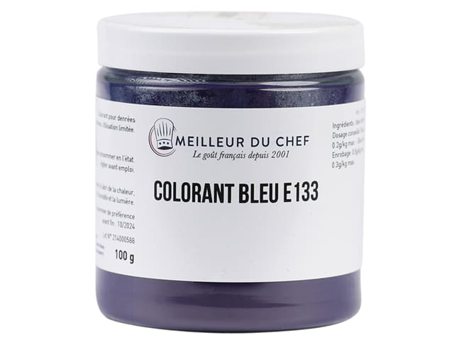 Colorante alimentare in polvere blu brillante - idrosolubile - 100 g - Selectarôme
