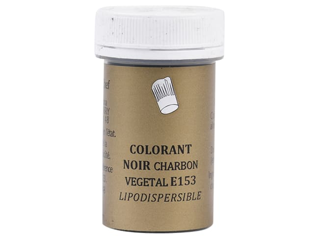 Colorante nero carbone vegetale - liposolubile - 5 g - Selectarôme