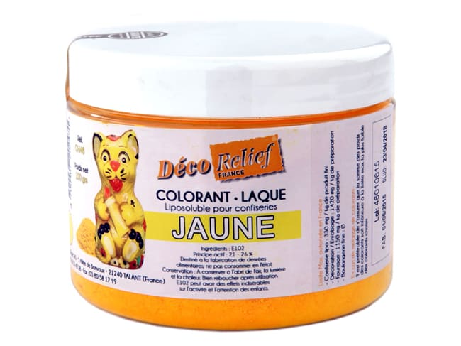 Colorante giallo liposolubile - liposolubile - 100 g - Déco Relief