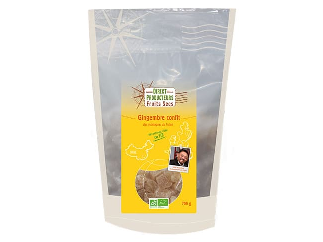 Organic Candied Ginger 700g - Agro Sourcing