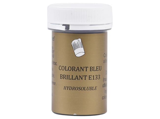 Brilliant Blue Food Colouring E133 - Water soluble - 10g - Selectarôme