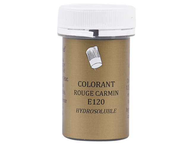 Carmine Red Food Colouring - Water soluble - Pot of 10g - Selectarôme