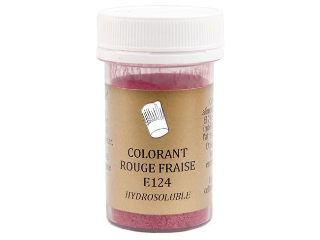 Strawberry Red Food Colouring - Water soluble - 10g - Selectarôme