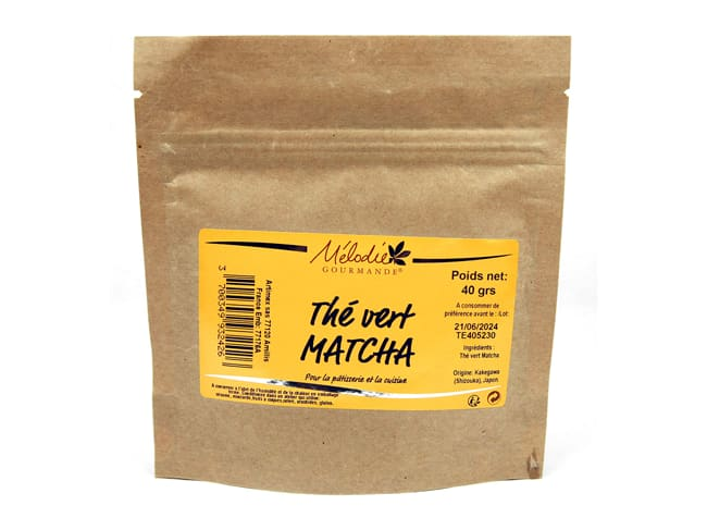 Matcha Green Tea Powder - for Pastry - 40g - Mélodie Gourmande