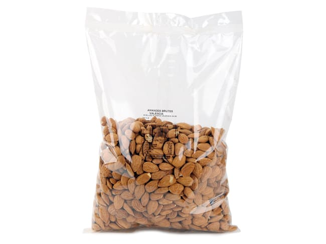 Whole Shelled Raw Almonds - Valencia - 1kg