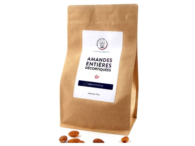 Whole Shelled Raw Almonds - 500g