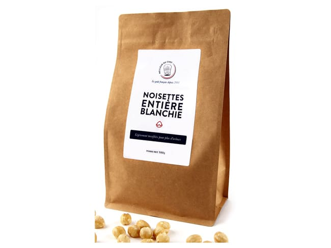 Whole Blanched Hazelnuts - 500g