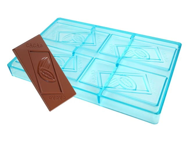 Cacao Chocolate Block Mould - 27.5 x 17.5cm