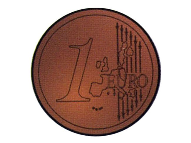 Chocolate Mould - 1 Euro Coin - 27.5 x 13.5cm