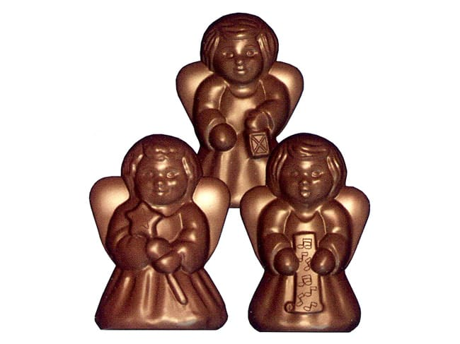 Chocolate Mould - 3 Angels - 6 cavities