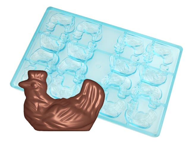 Chocolate Mould - Broody Hen - 16 Cavities