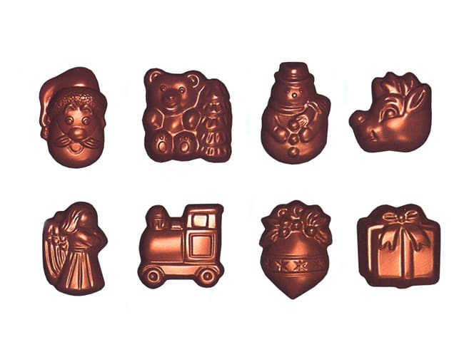 Chocolate Mould - Christmas Shapes - 24 Cavities