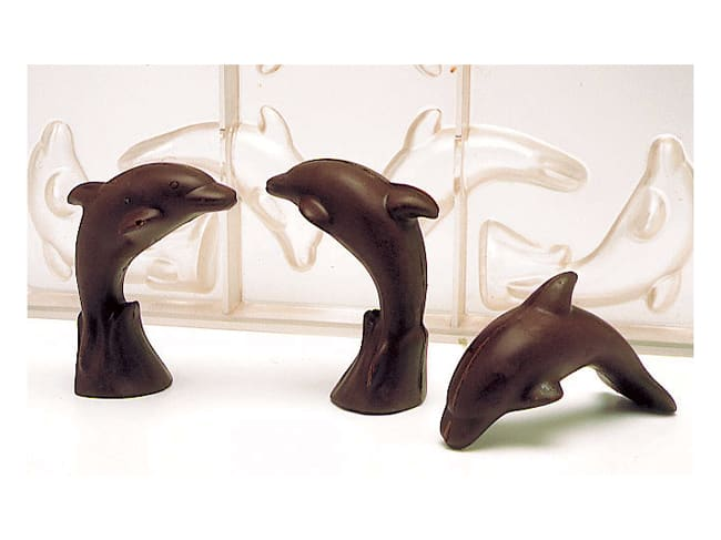 Chocolate Mould - Dolphins (8 cavities) - 27,5 x 17,5cm