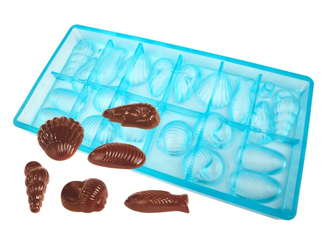 Chocolate Mould - Easter Sea Shells - 20 cavities
