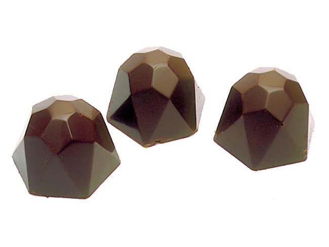 Faceted Diamond Chocolate Mould - 40 cavities