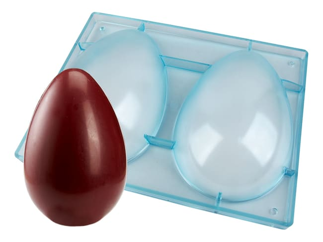 Plain Half Egg Mould - 2 cavities 23 x 16cm
