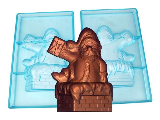 Chocolate Mould - Santa Claus - Chimney
