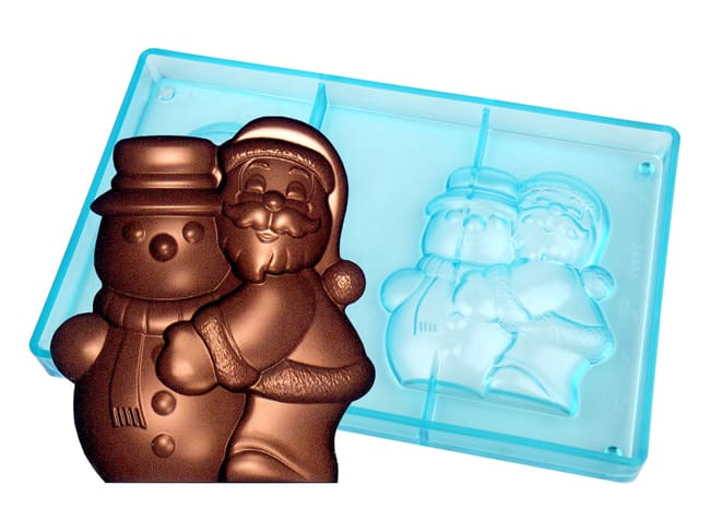 Chocolate Mould - Santa Claus - with Snowman
