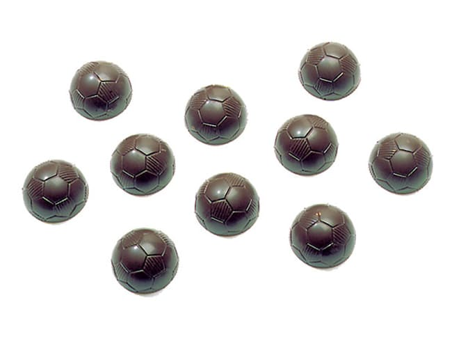 Chocolate Mould - Soccer Ball - 27,5 x 17,5cm - Ø 2,5cm