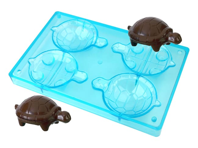 Chocolate Mould - Tortoise (4 cavities)