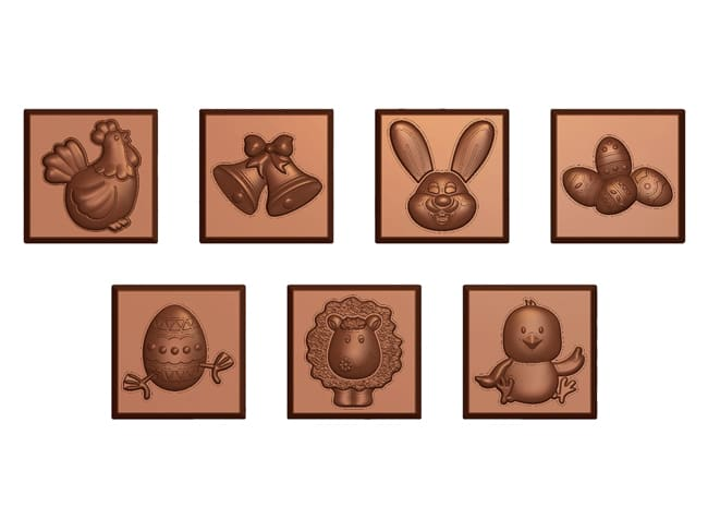 Easter Square Chocolate Mould - 21 Cavities