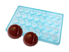 Ribbed Half Sphere Chocolate Mould