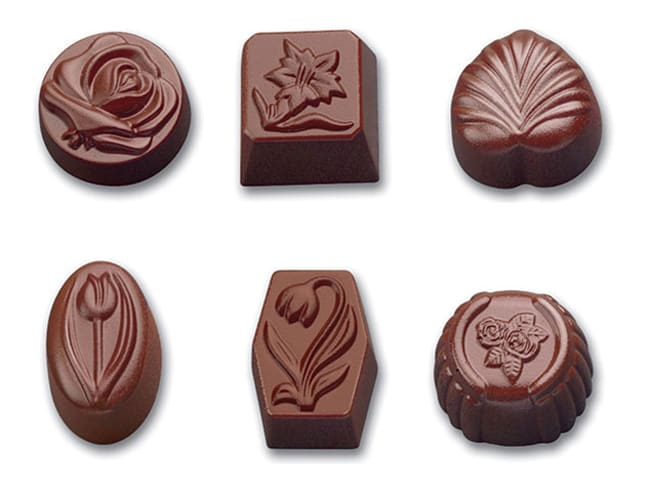 Tritan Chocolate Mould - 36 Assorted Shapes - 27,5 x 17,5cm