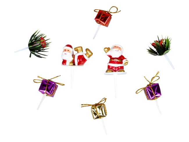 Assorted Christmas Cake Toppers (x 8) - Chevalier Diffusion