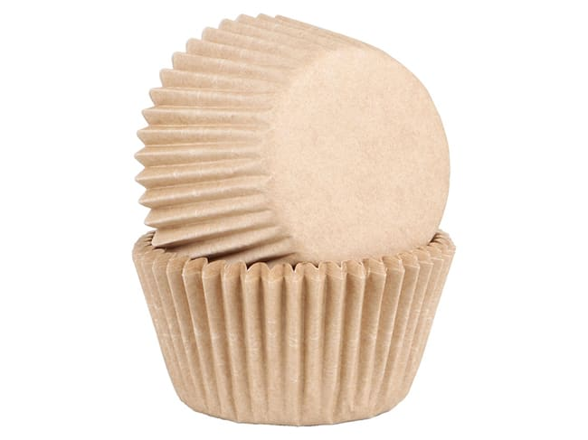 Compostable Cupcake Baking Cases - Pack of 45 cases - Natural - Chevalier Diffusion