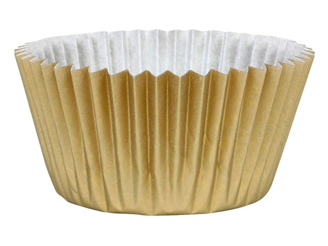 Cupcake Baking Cases (x 45) - Gold - Chevalier Diffusion