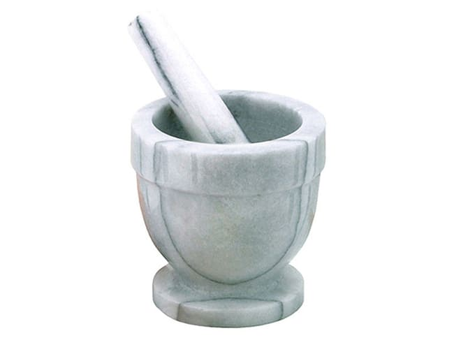 Marble kitchen mortar - with pestle - Ø 10 cm