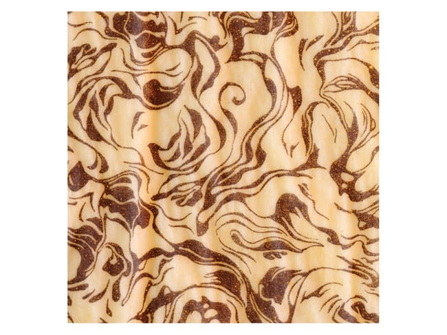 Biscuit transfer sheet - chocolate marbling - Pack of 10 sheets - Décors et Créations