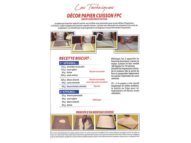 Biscuit transfer sheet - fake wood - Pack of 10 sheets - Décors et Créations