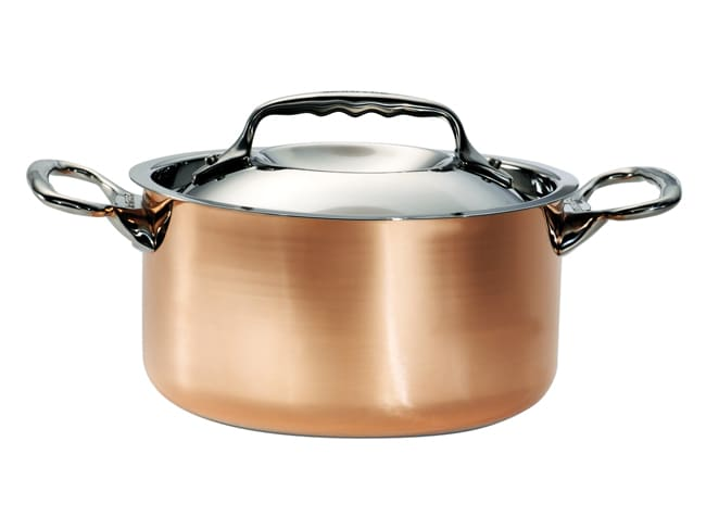 Copper/Stainless Steel Stew Pan - Prima Matera - Ø 28cm - De Buyer