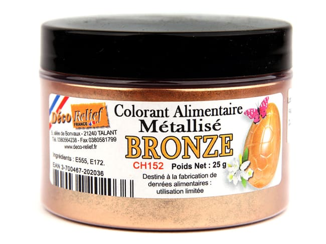 Bronze Iridescent Colouring Powder - Fat Soluble - 25g - Déco Relief